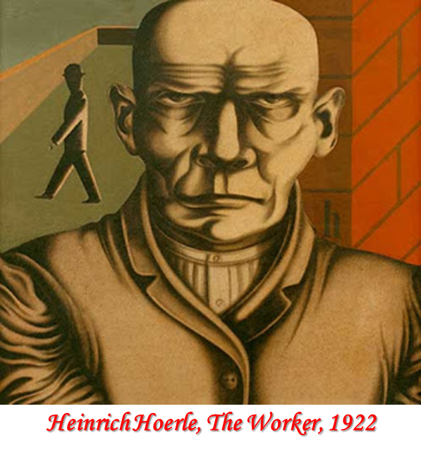 Heinrich Hoerle, The Worker, 1922